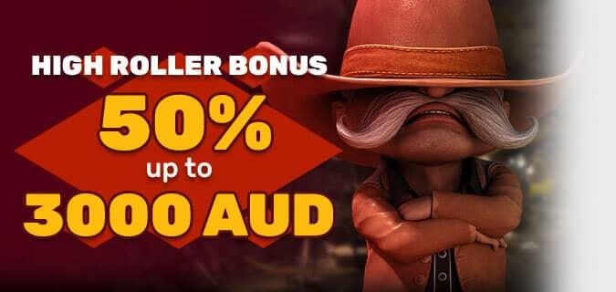 High Roller Australian Bonus